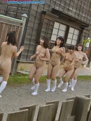 Nude Asian teen girls in long socks having fun in - XXXonXXX - Pic 1