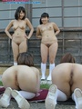 Nude Asian teen girls in long socks - Picture 15