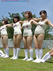 Nude Japanese school girl having their PE classes - XXXonXXX - Pic 2