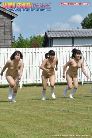 Nude Japanese school girl having their PE classes - XXXonXXX - Pic 6