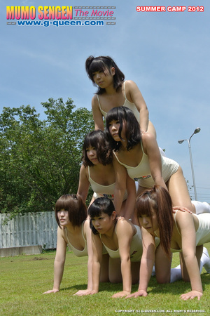 Nude Japanese school girl having their PE classes - XXXonXXX - Pic 17