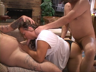 Two men pounding hard fat bitch variously - Picture 4