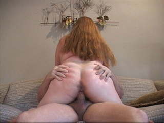 Long-haired fatso spreads her butt cheeks for a black - Picture 2