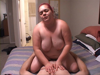 Busty fatty with pink ponytail doggystyled - Picture 4