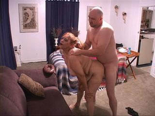 Bald dude drilling hard plump grandma - Picture 2