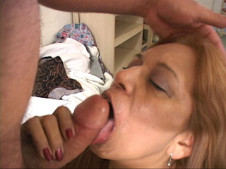 Lustful fat latina granny swallows cock hungrily - Picture 3