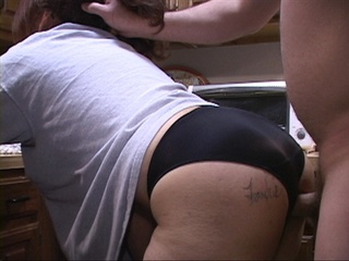Tattooed mature bitch in lace panties shows off her big - Picture 1