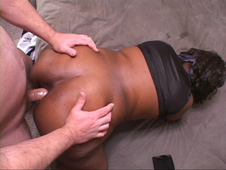 Big butt black mom with ponytail doggystyled into - Picture 2