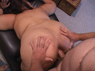 Huge-titted Mexican housewife takes boner into her - Picture 1