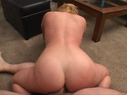 blonde bootylicious mom riding