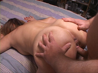Chubby slut takes cock into cunt and ass in doggy style - Picture 7