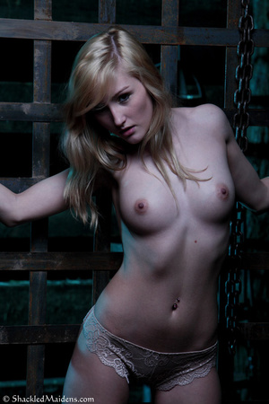 Blonde topless chick in lace panties enc - XXX Dessert - Picture 2