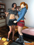 Two college girl are transsexuals and they want to spend time hot in cool