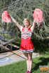 Cheerleader need help from mom to bang football…