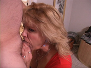 blond mature sucks and