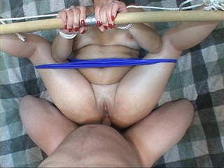 Tied-up and abused mature gets dildo and cock in her - Picture 2