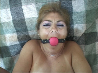 Tied-up and abused mature gets dildo and cock in her - Picture 3
