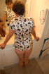 Mature granny unbuttons her blouse and reveals her…