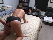 lusty housewife strips off