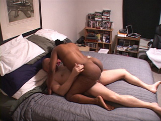 Big sexy chocolate momma gets drilled by hard white cock - Picture 1