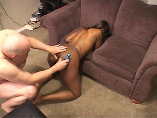 man bends black girls