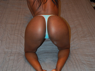 Two hot sexy ebony chicks in white and blue panties - Picture 3