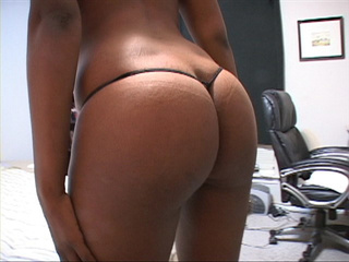 Sexy hot ebony takes nude shots of her big ass then - Picture 1