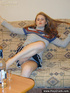 Slim and tall hot teen takes off her very short…