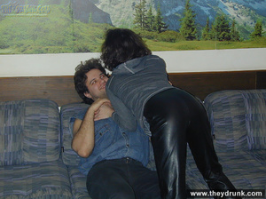 Black girl in leather trusers lets her guy undress her for having  some oral fun - XXXonXXX - Pic 2