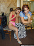 Naughty young girls teasing each other and please…