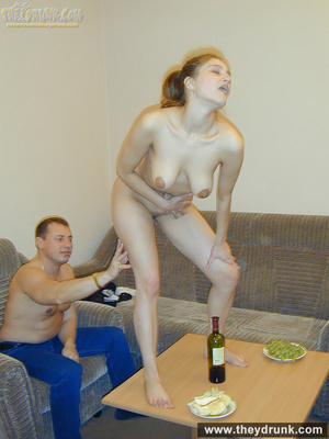 Big titted young chick teasing her guy, sucks him and gets his cock in her hungry pussy to be fucked in different positions - XXXonXXX - Pic 3