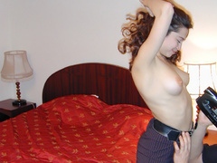 Young sexy redhead wife stripping and posing in - XXXonXXX - Pic 6