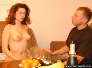 Young sexy redhead wife stripping and posing in front of her husband - XXXonXXX - Pic 14