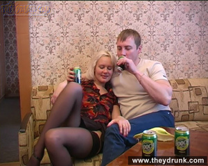 Long legged drunken blond in sexy stokings sucks then gets licked and fucked - XXXonXXX - Pic 4