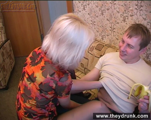Long legged drunken blond in sexy stokings sucks then gets licked and fucked - XXXonXXX - Pic 5