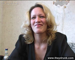 Lonely blond milf relaxing with alcohol then getting naked and playing with her hot pussy - XXXonXXX - Pic 7