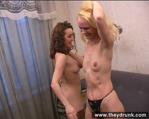 Young coquette lesbians have sexy fun with strip poker - XXXonXXX - Pic 13