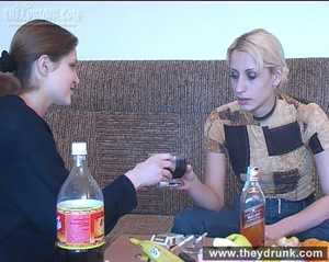 When the drink is enough these two young cute teens posing and playing hot lesbian game - XXXonXXX - Pic 4