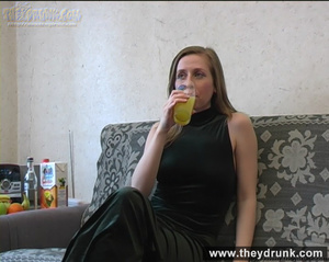 Drunken tall blond baby in long dress shows her sexy legs in stockings - XXXonXXX - Pic 5