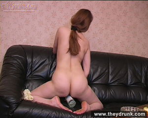 Tipsy brunette shows off her exciting body and masturbating on the leather settee - XXXonXXX - Pic 12
