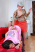Strict mom punishes bad girl with spanking and…