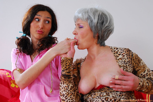 Strict mom punishes bad girl with spanking and drives her into hot lesbian sex - XXXonXXX - Pic 14