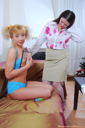 Busty young milf doesn't let her teen babysitter to be bored when the day is done - XXXonXXX - Pic 2