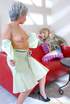 Lesbian mom wakes up sleeping daughter and gives…