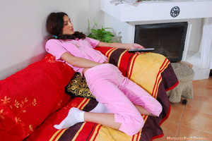 Hot mom spanks pinky girl for masturbation and makes her obedient - XXXonXXX - Pic 1