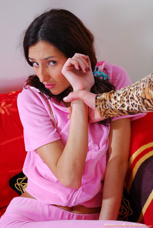 Hot mom spanks pinky girl for masturbation and makes her obedient - XXXonXXX - Pic 3