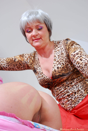 Hot mom spanks pinky girl for masturbation and makes her obedient - XXXonXXX - Pic 9