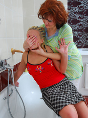 Mom finds daughter's dildo in bathroom and she - XXXonXXX - Pic 3