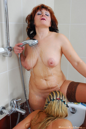 Mom finds daughter's dildo in bathroom and she decides to use her for lesbian pleasures - XXXonXXX - Pic 18