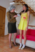 Mature and teen have sweet lesbian adventure on a…
